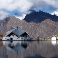 Dehra Dun: A view of Gurudwara Hemkund Sahib in the Himalayan range of Uttrakhand, in Dehra Dun on Wednesday. PTI Photo (PTI6_2_2010_000043A)